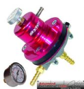 Sytec Red Motorsport Adjustable Fuel Pressure Regulator 10mm & Free Gauge